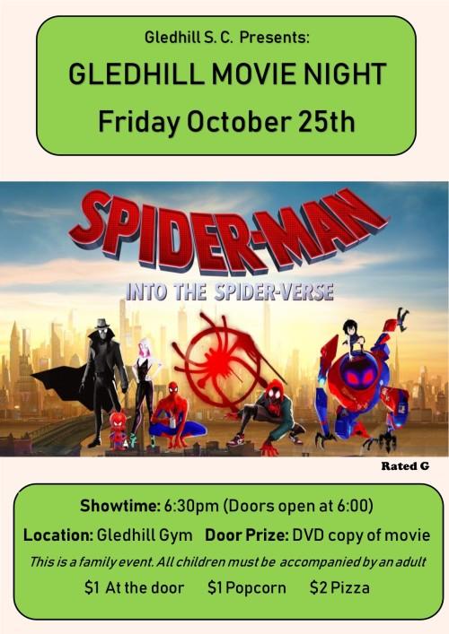 Gledhill Movie Night Poster online version October 2019